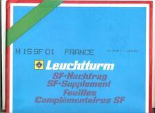 15 FEUILLES LEUCHTTURM SF FRANCE AVEC POCHETTES 2001 COMPLET SANS LES CARNETS