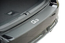 Edelstahl Carbon Style Ladekantenschutz für Audi Q3 Sportback F3