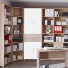 Aktenschrank Office Line Arbeitszimmer Büromöbel Sonoma Eiche Dekor 4-türig weiß