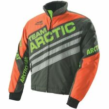 Arctic Cat Youth Team On-Track Insulated Jacket -Gray/Org/Grn- C14 - # 5281-265