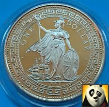 1997 $1 Trade One Dollar 50th Anniv. Indian Independence Colourised Unc Coin