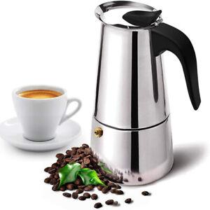 Stainless Steel Italian Espresso Maker Cup Stove Top Coffee Percolator Moka Pot