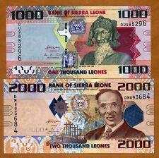 SET Sierra Leone, 1000;2000 Leones, 2010, P-30-31 UNC