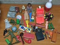 Vintage Antique Toys Lot - Tin Japan, Auburn - Pieces Parts Repair Junk Drawer