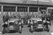 Alvis FWD auto Le Mans in 1928 Davis Urquhart-Dykes paddock photo photograph 6