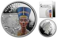 2013 Cook Is Large Silver Color $5 Nefertiti