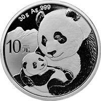 2019 Chinese Panda 30 Gram .999 Silver Mint Sealed BU Bullion Sale Coin