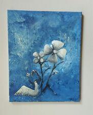 Petals in the Wind,16x20, Flowers, Love, Acrylic, Original, Surrealism, Fantasy