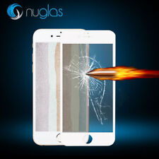 Nuglas White EDGE to EDGE Tempered Glass Screen Protector Guard For iPhone 8