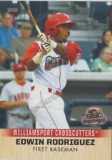 2018 Williamsport Crosscutters Edwin Rodriguez RC Rookie Phillies VZ