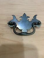 Vintage Bat Wing Drop Handle Cabinet Drawer Pull Bronze Tone Finish 3''oc
