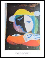 Pablo Picasso Dame am Balkon Poster Kunstdruck mit Alu Rahmen in schwarz 80x60cm