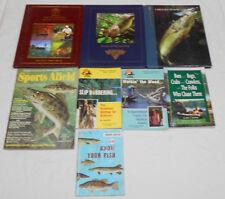 Lot of 7 Fishing Books and 1 Magazine Nafc Bass Fishing Hotspots Sports Afield
