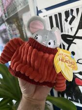 NEW BARKBOX Bark Box Small XS Dog Toy Sweater Weather Heather Mouse chew Crinkle