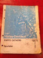 HARLEY -DAVIDSON SPARE PARTS LISTING BOOK  GREAT FOR REBUILD OR RESTORATION H D