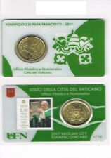 COINCARD N° 16 - 50 CENTIME D'EURO VATICAN 2017 + TIMBRE   NEUF