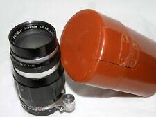 Vtg 1960's Soligor Miranda Mount 135mm f3.5 Telephoto w Leather Case No. TY12027