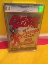 Captain Marvel Adventures #15 CGC 7.0,1942,BvS,The Rock, Shazam,Black Adam, Xmas