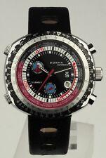 Sorna watch automatic tachymeter scale black version new unworn