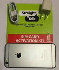 Apple iPhone 6 16GB (Straight Talk - AT&T) Space Gray Smartphone Bundle (A)