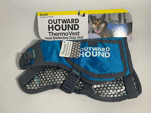 """Outward Hound Thermovest Dog Vest - Blue Small - Dogs 15-30 lbs - (26"""" Max. C..."""