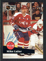 Mike Lalor #255 signed autograph auto 1991-92 Pro Set Hockey Trading Card