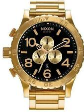 New Authentic Nixon 51-30 Chrono All Gold / Black Watch A083-510 A083510