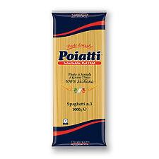 Pasta Poiatti Spaghetti N 3 da 1kg 100% Siciliana
