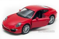 Porsche 911 Carrera S red, Welly scale 1:34-39, model toy car gift
