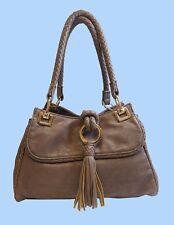 BIG BUDDHA Grey Leather Shoulder Bag Msrp $128.00 * REDUCED 70% OFF *