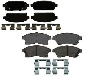 Front and Rear Ceramic Brake Pad Sets Kit ACDelco For Chevrolet Cruze Sonic Volt