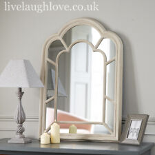 Large Panel Arch Wall Mirror - Shaded White 70cm x 100cm
