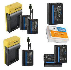 Akku NP-FW50 | USB Ladegerät | Sony Alpha 6000 6300 6400 6500 7 Nex RX10  7 II