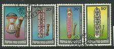 PAPUA NEW GUINEA 1984 CEREMONIAL SHIELDS 4v Fine Used
