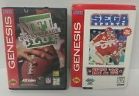 NFL Football 95 + Quarterback Club  Sega Genesis Working + Tested 2 Game Lot