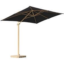 Alu Ampelschirm eckig Sonnenschirm Gastronomie Ampelschirm mit Schirmständer
