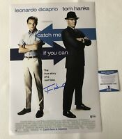 TOM HANKS SIGNED AUTOGRAPHED CATCH ME IF YOU CAN 12X18 PHOTO BECKETT BAS COA 2