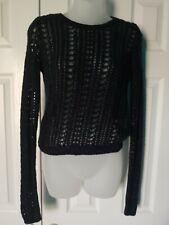Hollister Loose Knit Black Metallic Layering Sweater Size XS X-Small Extra Small