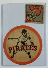 """*RARE* Vintage Iron-Ons Patches 2"""" & 4"""" PITTSBURGH PIRATES"""