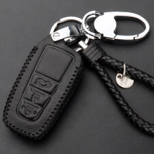 3 Buttons Leather  Remote Fob Keychain Holder Case For Toyota Prado /Camry 2018
