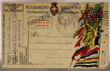 POSTA MILITARE 8° PARCO CARREGGIO E SALMERIE 8.1.1919 #XP318E
