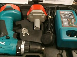 Makita Cordless Hammer Drill 8281D+ Hardcase+ tools