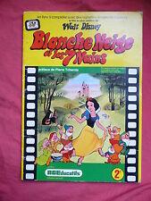 album BLANCHE NEIGE ET LES 7 NAINS .1973 . AGEDUCATIFS .vignettes . no panini