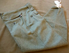WWII GERMAN M43 WOOL COMBAT FIELD GREY TROUSERS- SMALL