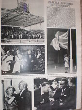 Photo article Independence for Zambia 1964
