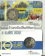 NEDERLAND          2012  2 Euro in Coincard   10 JAAR EURO   Op voorraad  NIEUW