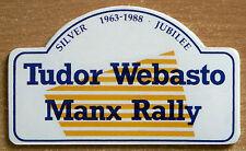 1988 Tudor Webasto Manx Rally Retro Motorsport Sticker / Decal