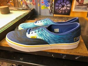 Vans Authentic National Geographic Ocean True Blue Size US 8 Men (9.5 Women) New