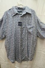 Chereskin Silk Shirt Short Sleeve Blue Button Big and Tall XXL 28920031