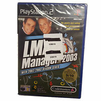 LMA Manager 2003 (Sony PlayStation 2, 2002) - Brand New Sealed A Grade